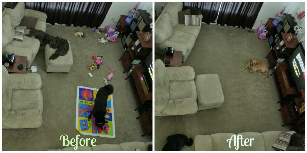 living family room clean up, quick clean up, quick family room clean up