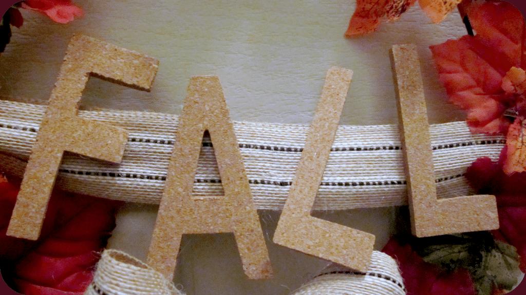 Corkboard F-A-L-L letters