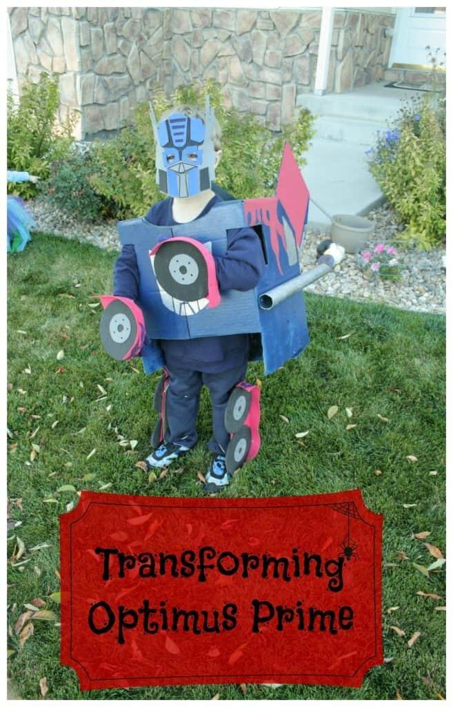 Kids Transforming Optimus Prime Costume