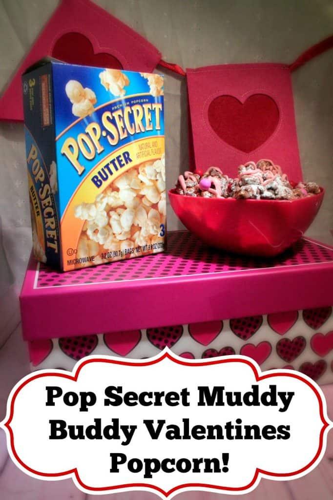 Muddy Buddy Popcorn, Recipe for popcorn, Pop Secret, Pop secret forts, Valentines popcorn