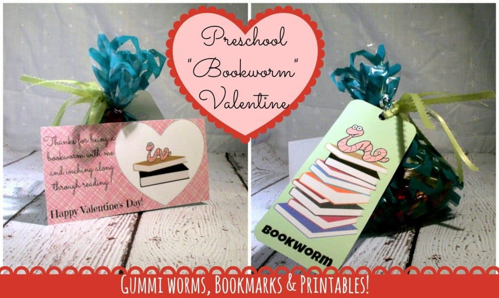 Valentines Day Bookmark, Printable Valentines cards, printable bookmark, preschool valentine ideas, Printable, bookworm