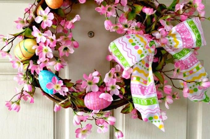 Dogwood Easter Wreath #DIY