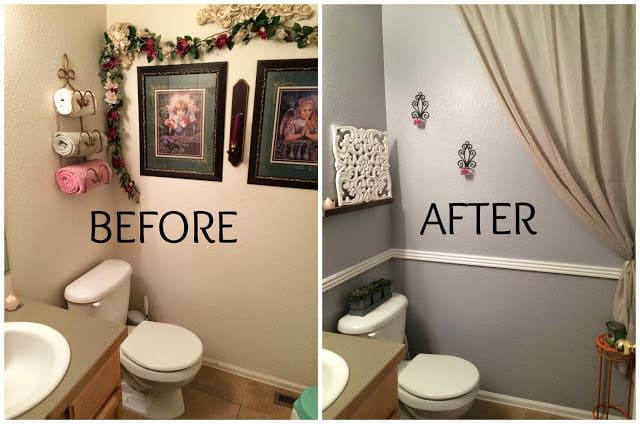 Cheap Bathroom remodel, Frugal Bathroom remodel, Grey bathroom, Bright colored bathroom, Renuzit Pearl Scents, Odor Neutralizer, Air Freshener, Long-lasting