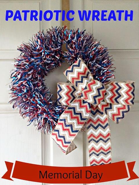 Memorial Day Wreath, DIY Patriotic Wreath, Firecracker Wreath.