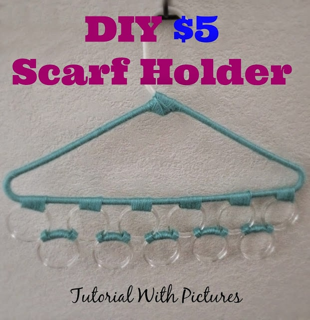 How to make a scarf holder, cheap scarf holder, DIY scarf holder, DIY cheap scarf holder, DIY Scarf Holder tutorial.