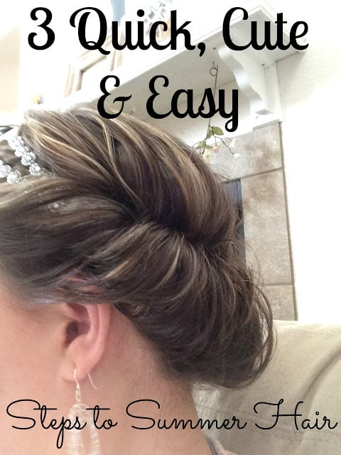 Quick and Cute summer hair, How to do a quick updo, Video on hair do, hair tutorial.