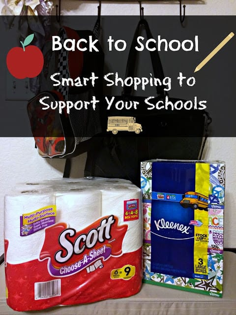 Back to school, Walmart, shopping, Box Tops, Kleenex, Scott Tissue