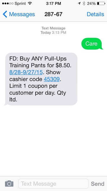 Pull-Ups at Family Dollar, Pull-Ups training pants, Family Dollar savings, Potty Training Tips and Tricks,Text to Save on Pull-Ups