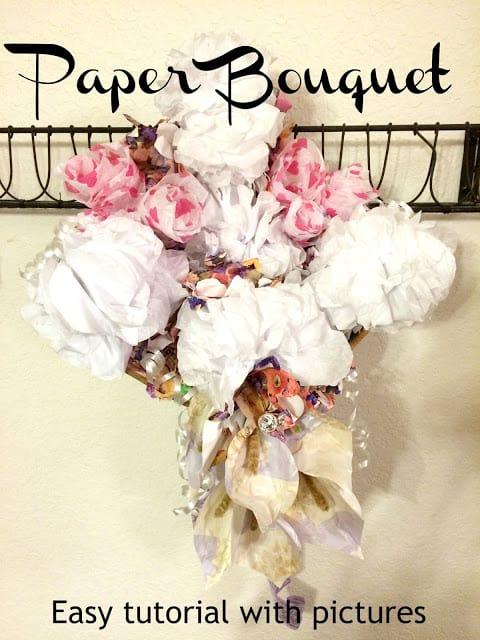 How to make a paper bouquet, Wedding Rehearsal Dinner paper Bouquet, Paper Flower tutorials