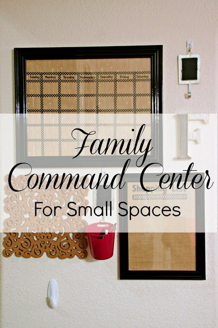 Family Command Center for small space, How to create a dry erase calendar, Budget Crafting