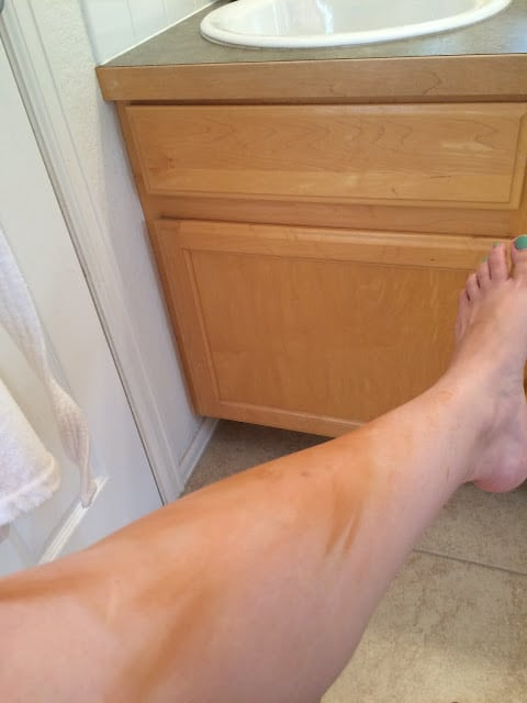 Sally Hansen's Airbrush Legs, Leg make up, Influenster products, Self tanner make up