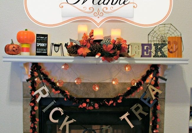 Spooky Halloween Mantle Makeover #BudgetFriendly