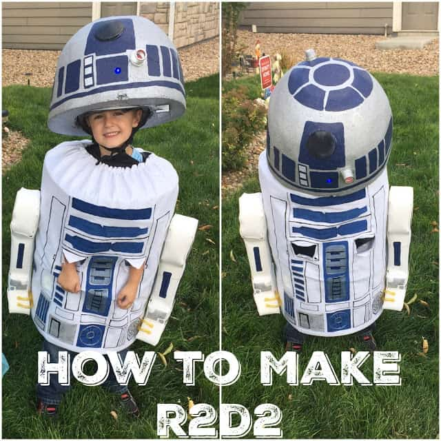How to make an R2D2 costume for a kid