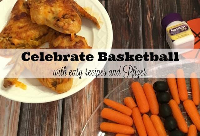 #GameforBasketball, #Ad, #CBias, Buffalo Chicken Slow Cooker Wings, Basketball Veggie Tray, Dill Ranch Dip, Easy Basketball Recipes, Basketball themed recipes