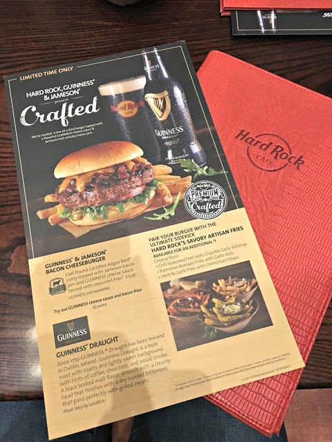 Hard Rock Guinness & Jameson Bacon Burger, Hard Rock Denver Review, Hard Rock Menu, #ThisIsHardRock