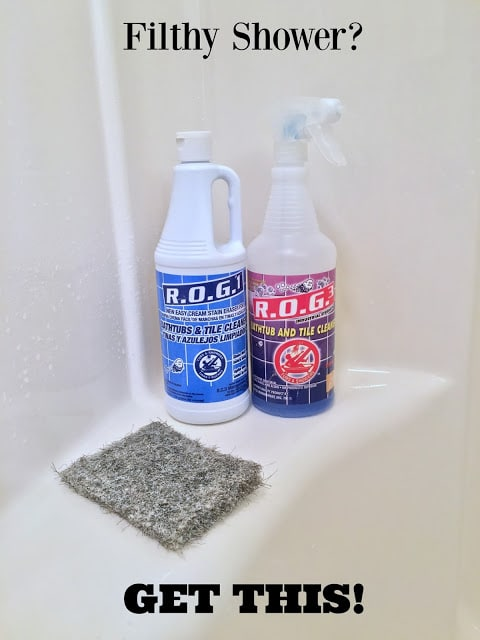 ROG3 Cleaner, Rog3 cleaner before and after, Rog3 honest review, Miracle shower cleaner, Industrial bathroom cleaner, industrial shower cleaner, how to clean your shower