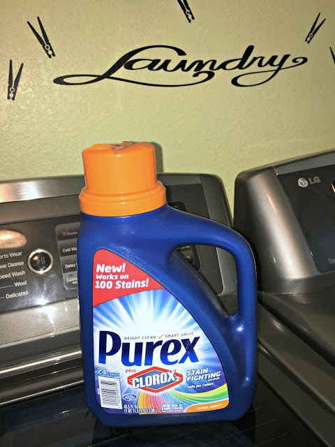 Purex, Clorox, Purex plus Clorox 2, bright clean, smart value, stain fighters, detergent, stain fighting, stains, safe for colors, giveaway