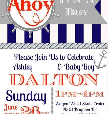 Ahoy!  It's A Boy!  Nautical Baby Shower #OrientalTrading
