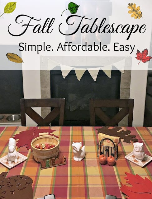 Fall Table Decor ideas, Fall Table Scape, Fall Decorations on a budget, Fall decorations from target, Fall decorations from the Dollar Tree, Creative ways to decorate for fall.