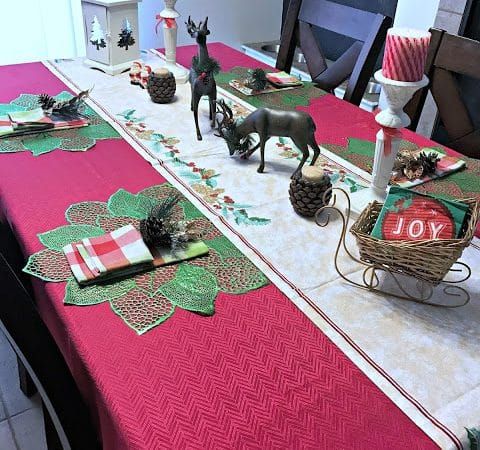 Christmas Table Makeover! #OrientalTrading