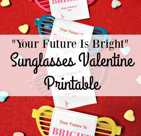 Sunglasses Valentine Printable