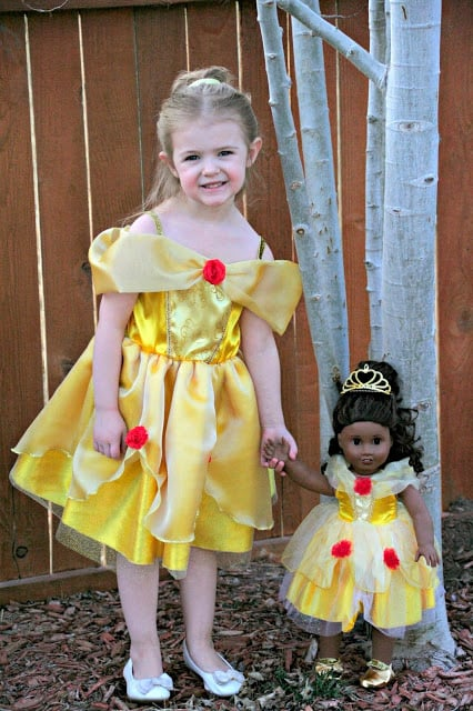Belle Dress Up dress, Beauty and the Beast dress up dress for dolls, beauty and the beast dress up dress, belle dress up dress for dolls, Great Pretenders, #BeautyandtheBeast,