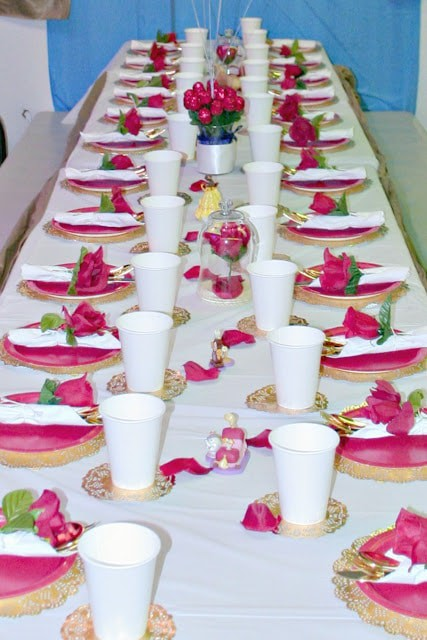 Easy Beauty and the Beast Party decor, Beauty and the Beast Enchanted rose tutorial, Beauty and the Beast party on a budget, Elegant Beauty and the Beast Party for toddlers, how to throw a beauty and the beast party, Beauty and the beast party decorations on a budget, enchanted rose DIY on a budget