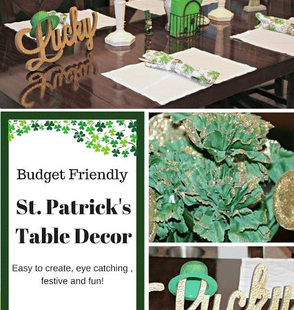 Budget Friendly St. Patricks Table Decor