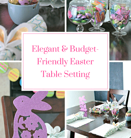 Easter Table Setting #OrientalTrading