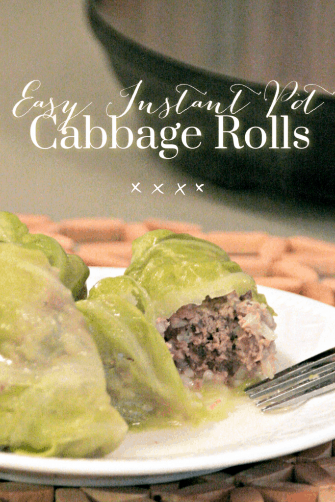 Easy Instant Pot Cabbage Rolls