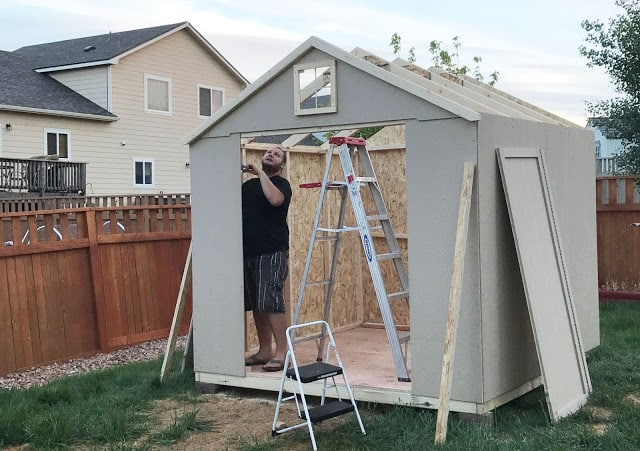 Lowes Shed kit build, how to build a kit shed, is it hard to build a shed from a kit, is it worth it to build the shed kits or have one built, step by step shed build
