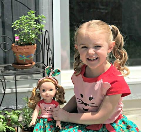 DIY Hand Painted Herb Garden and #Giveaway with American Girl's® WellieWishers™