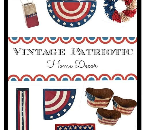 Vintage Patriotic Home Decor