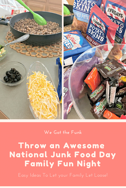 National Junk Food Day, Free TGI Friday Snack Coupons, TGI Friday giveaway, TGI Friday snack coupon giveaway, How to throw and awesome junk food dinner, Easy junk food dinner ideas