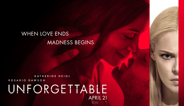 Unforgettable Movie giveaway, Unforgettable release on DVD, Unforgettable with Heigl, Unforgettable movie synopsis, Unforgettable movie photos