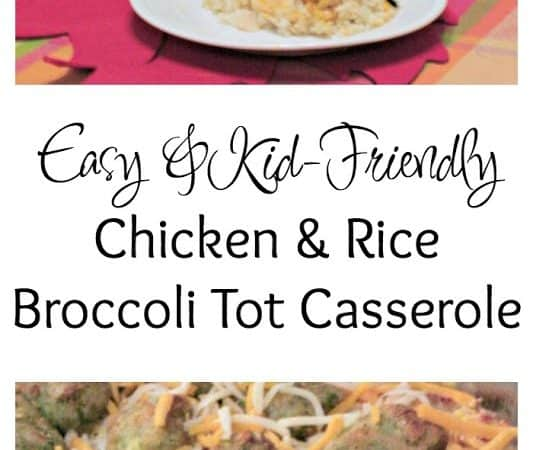 Easy, Kid-Friendly Creamy Chicken & Rice Broccoli Tot Casserole