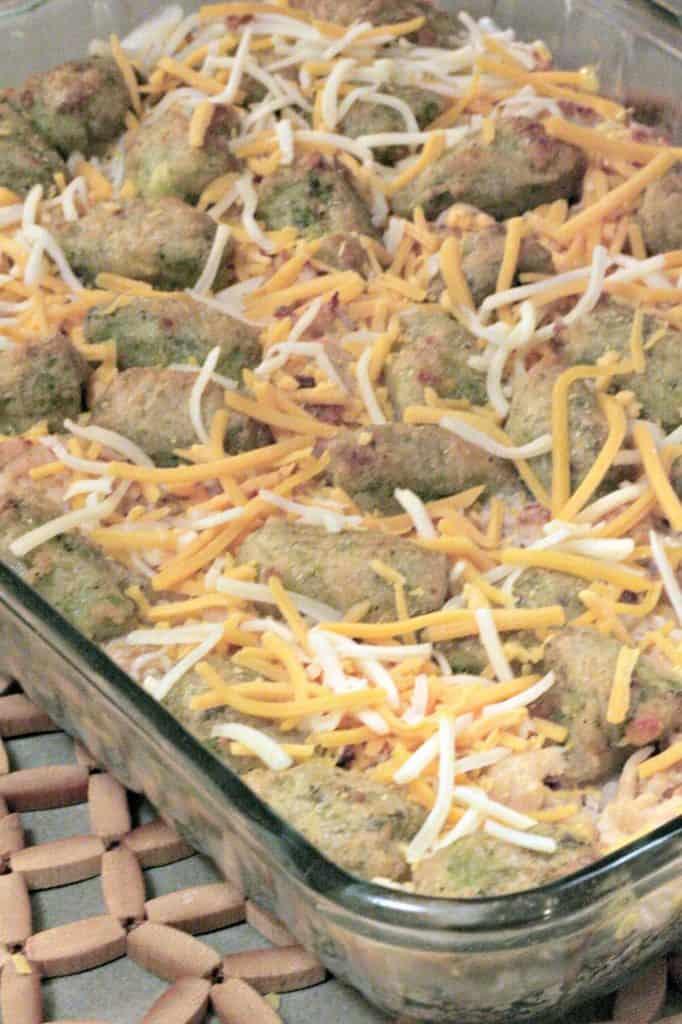 Cheddar broccoli tot casserole