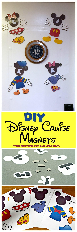 DIY Disney Cruise Door Magnets Printable - We Got The Funk