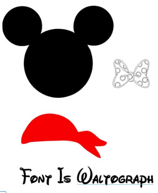 SVG pirate mickey file
