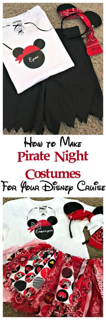 How to make pirate night costumes for Disney cruise