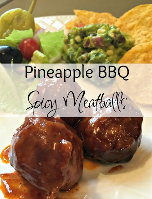 Pineapple BBQ Spicy Meatballs