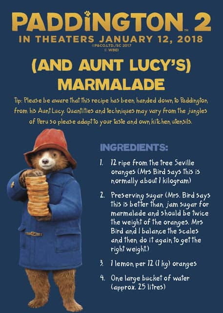 Paddington 2 synopsis, what is paddington 2 about, paddington bear marmalade recipe, easy marmalade recipe