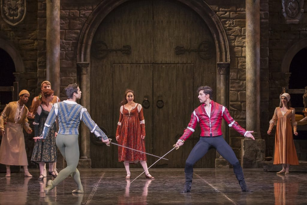 Mercurtio and Tybalt fight scene, Romeo and Juliet Colorado Ballet