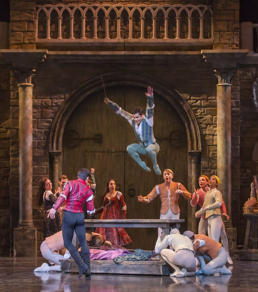 Fight scene in Romeo and Juliet, Colorado Ballet presents Romeo and Juliet