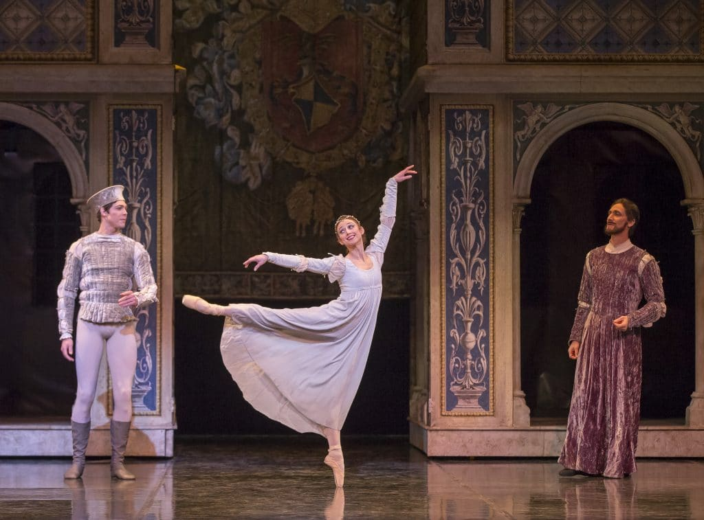 Juliet and Paris meet photo, Juliet as a ballerina, Romeo and Juliet Colorado ballet