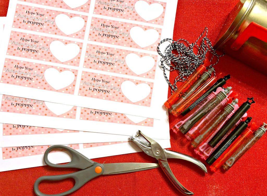 steps to make a valentine, how to make a printable valentine, how to make a bubble valentine