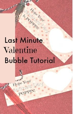 Quick and Easy Valentine's Bubble Printable