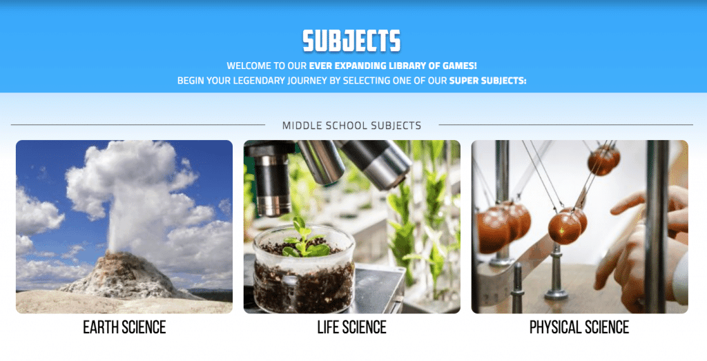 Legends of Learning in action, game based science, online science resources, science games online, blended science classroom resources, game based science learning resource