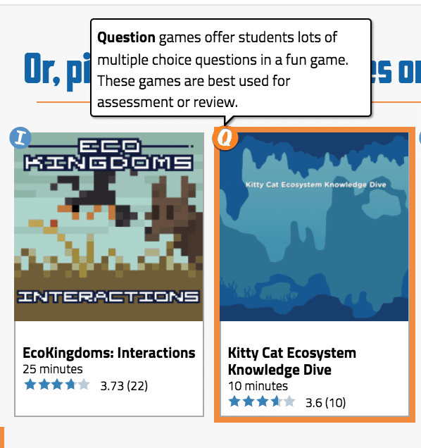 science education resource, legends of learning for science classrooms, online science resources, online science games, online science games for middle and high school, science games and NGSS