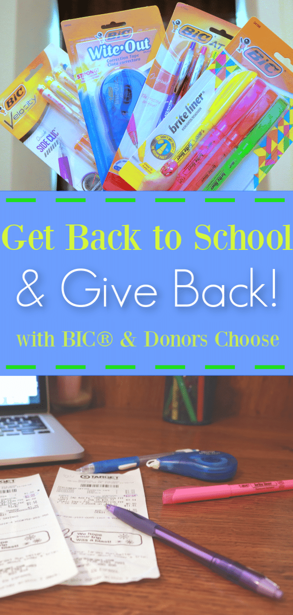BIC® Bucks for teachers, how to give back to classrooms without spending a fortune, Donors Choose, Teacher crowdfunding website, how to help classroom teachers, how to donate to classroom teachers